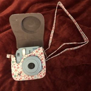 Instax Blue Polaroid Camera with Case
